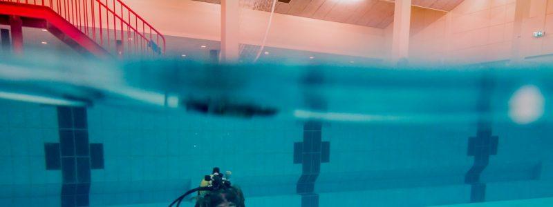 Zwembadtraining door FF-team, oefenen met diverse camera's voor alle Hydrofielers